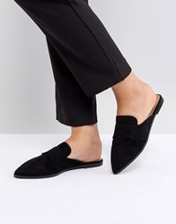 Asos Mouse Pointed Mules Black