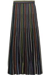 M Missoni Striped Lame Crochet Knit Maxi Skirt Multi