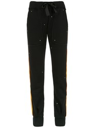 Andrea Bogosian Side Stripe Joggers Black