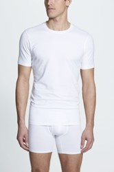 Naked Essential 2 Pack Stretch Cotton T Shirt White