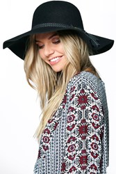 Boohoo Ella Wool Floppy Hat With Tassel Trim Black