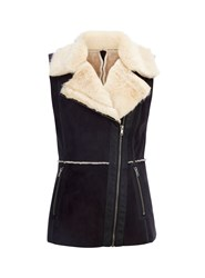 Wallis Black Sheepskin Gilet