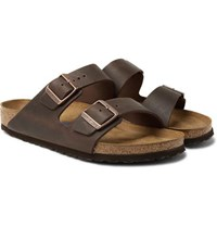 Birkenstock Arizona Oiled Nubuck Sandals Dark Brown