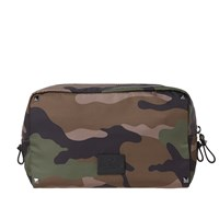 Valentino Jacquard Camo Medium Wash Bag Green