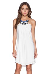 T Bags Losangeles Tribal Halter Dress White