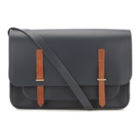 The Cambridge Satchel Company Men's Bridge Closure Bag Navy Tan