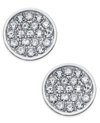 Kate Spade New York Silver Plated Metal Pave Disc Stud Earrings