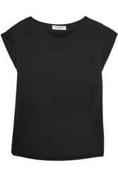 Halston Heritage Modal And Georgette Top Black