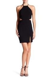 City Triangles Cutout Stud Trim Dress Black