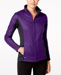 Ideology Colorblocked Quilted Jacket Only At Macy's Night Iris