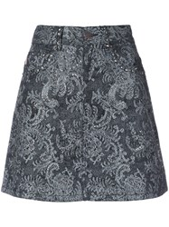 Marc Jacobs Embellished Lace Mini Skirt Women Cotton 25 Black