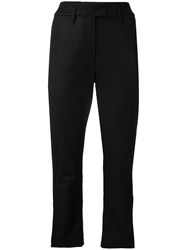 Ann Demeulemeester Cropped Tailored Trousers Black