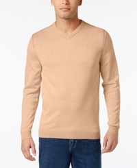 Tommy Bahama Men's V Neck Ribbed Trim Sweater Sunrise