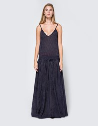 Matin Ravello Full Length Dress Navy White