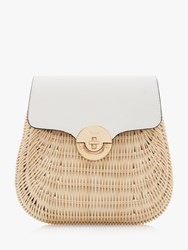 Dune Daimie Woven Straw Backpack White Natural