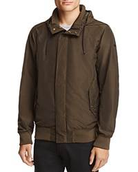 Scotch And Soda Military Hooded Jacket Military Green