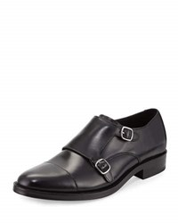 Cole Haan Madison Double Monk Leather Loafer Black