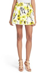 Women's Alice Olivia 'Connor' Floral Print Miniskirt Daisy Field All Over