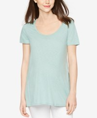 A Pea In The Pod Maternity High Low Tee Ocean Mist