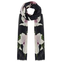 Coast Winter Lily Floral Scarf Black Multi