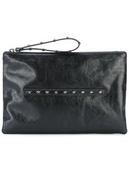 Red Valentino Studded Detail Clutch Black