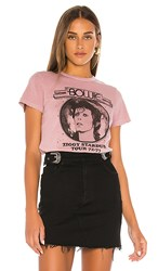Junk Food Bowie Tee In Mauve. Dawn
