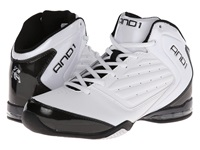 And 1 Master 2 Mid White Black Silver Men's Basketball Shoes