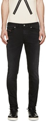 Diesel Black Faded Super Slim Skinny Jeans