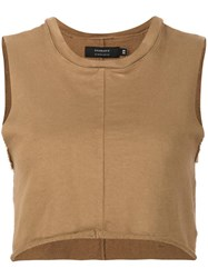 Daniel Patrick Cropped Vest Brown