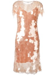 Givenchy Sequin Dress With Slip Nude Neutrals