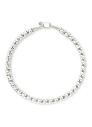 Philippe Audibert 'Lester' Twist Rope Choker Necklace Metallic