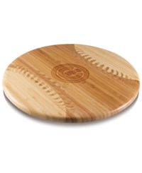 Picnic Time Chicago Cubs Ball Shaped Cutting Board Burlywood