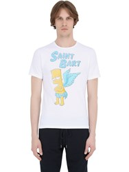 Mc2 Saint Barth Bart Printed Cotton T Shirt