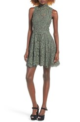 Keepsake Women's The Label Lace Fit And Flare Dress