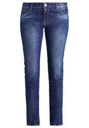 Replay Katewin Straight Leg Jeans Mid Wash Blue Denim