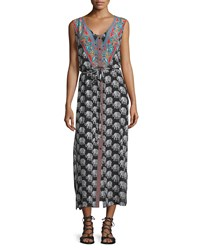 Tolani Gemma Sleeveless Elephant Print Dress