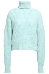 Each X Other Woman Ribbed Knit Turtleneck Sweater Mint