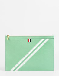 Thom Browne A4 Document Holder Light Green