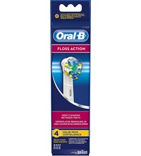 Pack Of Four Oral B Floss Action Replacement Toothbrush Heads