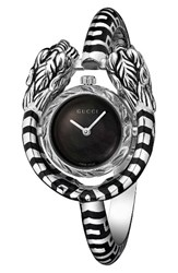 Gucci Women's Dionysus Bangle Watch 23Mm Silver Black Mop Silver