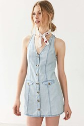 Cooperative Posie Chambray Button Down Mini Dress Vintage Denim Medium