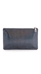 Lauren Merkin Handbags Hologram Ellie Flat Clutch Midnight