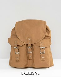 Reclaimed Vintage Canvas Backpack Khaki Green