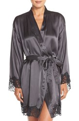 Women's Calvin Klein 'Fearless' Silk And Lace Robe