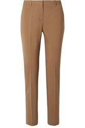Theory Wool Blend Straight Leg Pants Sand