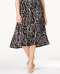 Jm Collection Plus Size Jacquard Midi Skirt Only At Macy's Earth Texture
