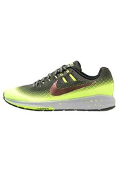 Nike Performance Air Zoom Structure 20 Shield Stabilty Running Shoes Cargo Khaki Metallic Red Bronze Volt Black Wolf Grey Oliv