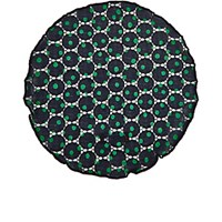 Alexander Olch Men's Dotted Cotton Lace Pocket Round Navy Green Navy Green