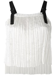 Aviu Pleated Top Women Polyester 42 White