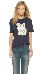 6397 Lucky Cat Tee Navy